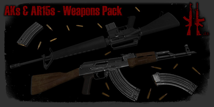 AKs and AR15s Weapons Pack