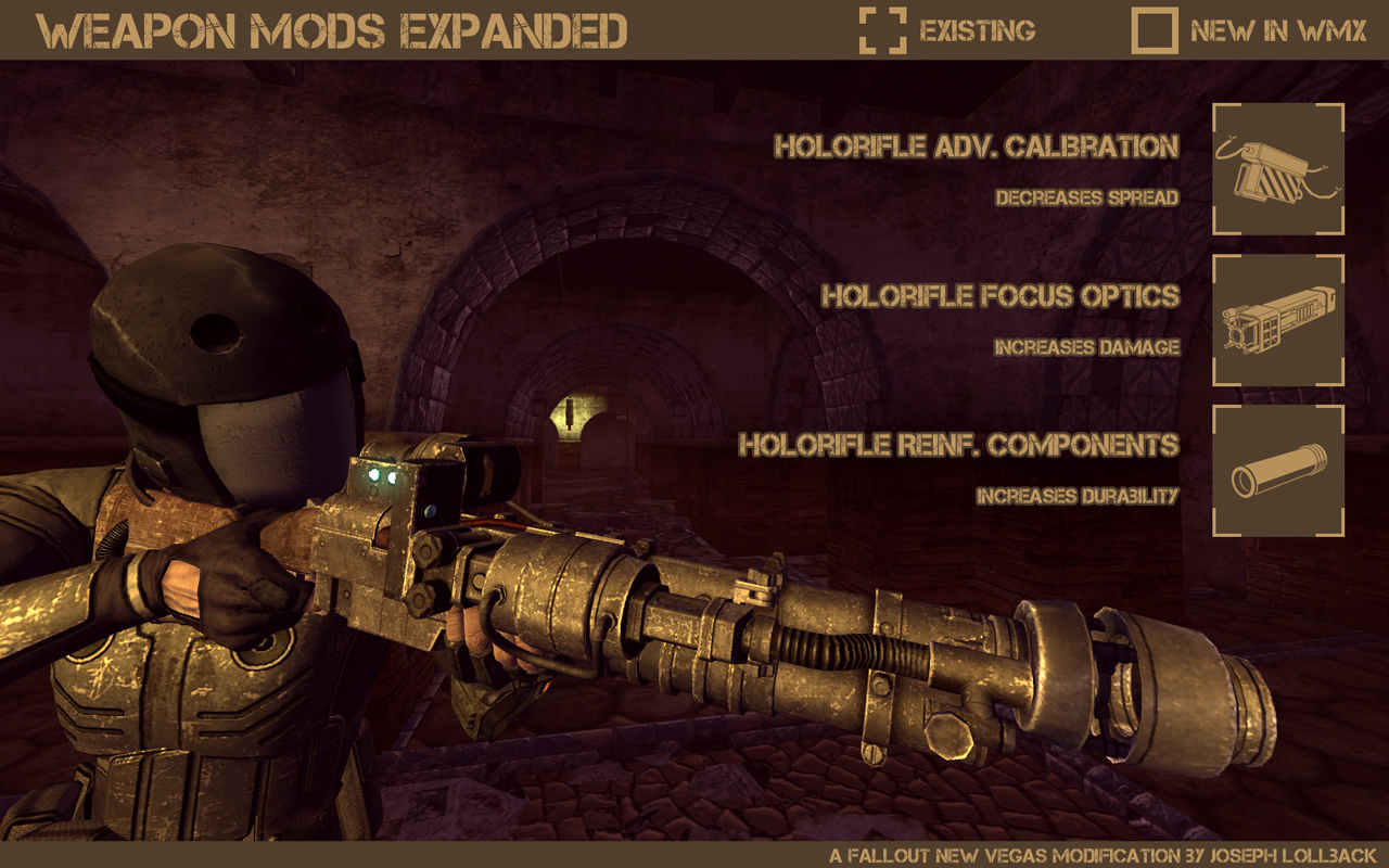 Weapon mods expanded wmx/wmxue для fallout new vegas — моды.
