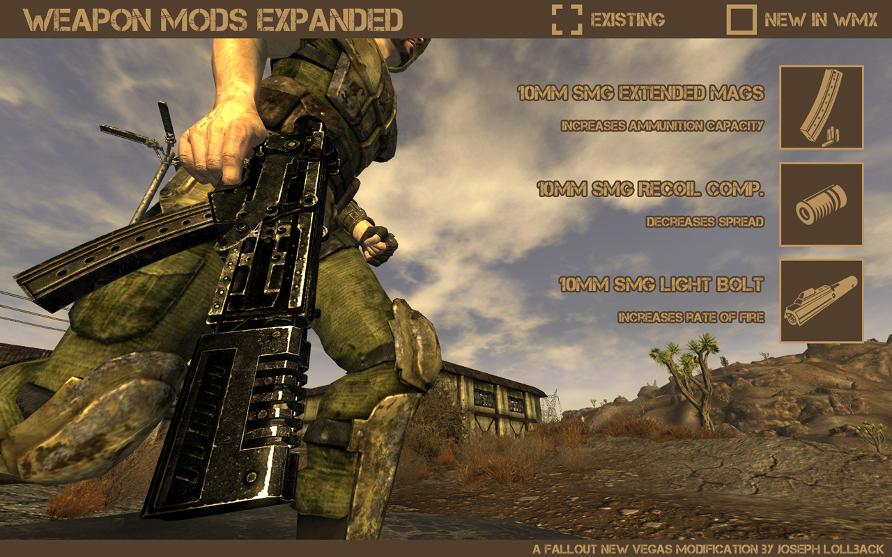 Weapon Mod Kits для Fallout 3