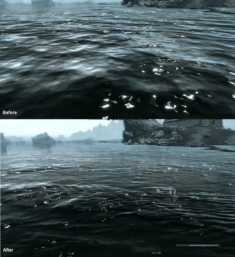 скачать мод на скайрим на ретекстур воды - фото 7