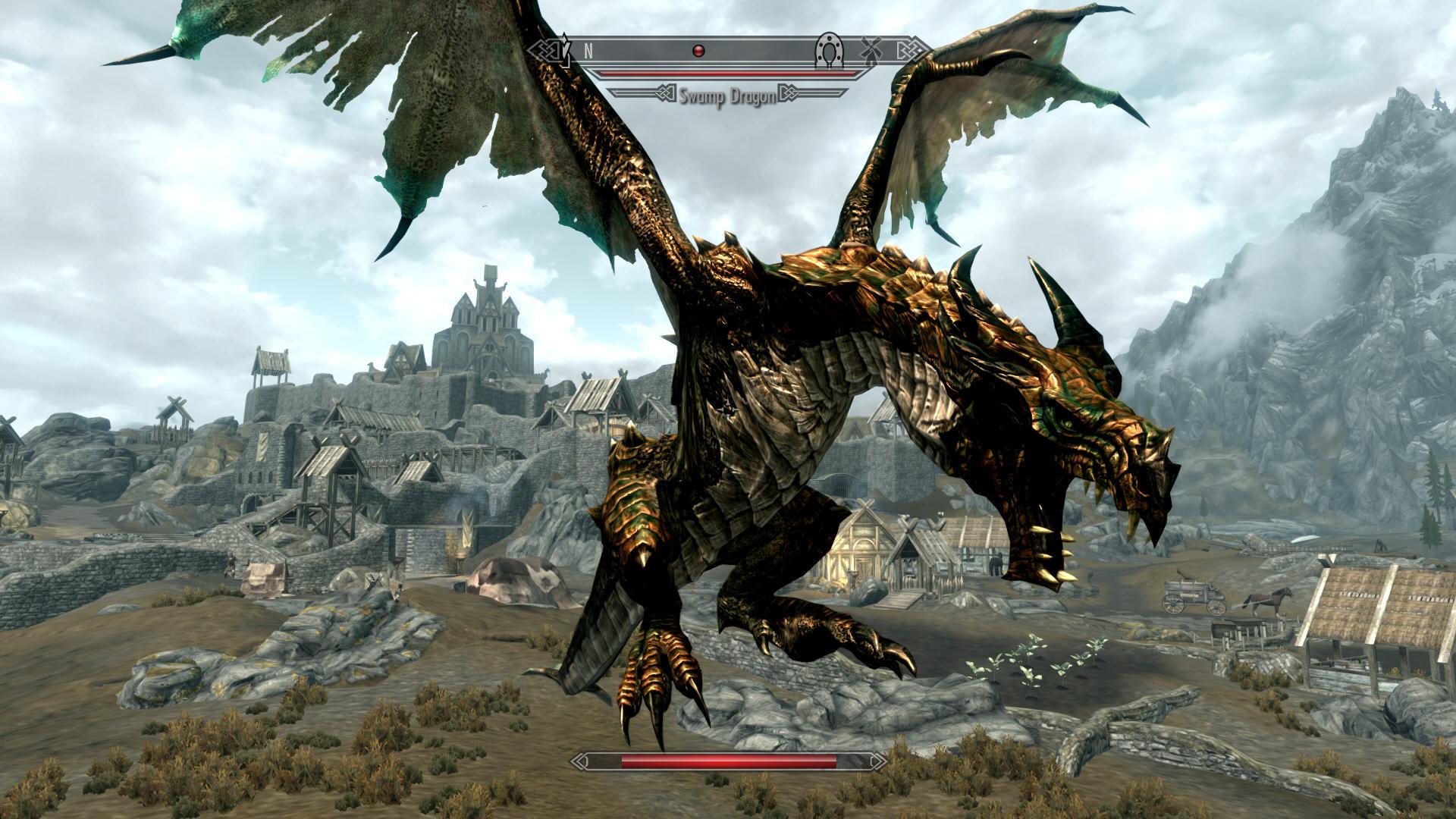 Скачать мод на скайрим на драконов