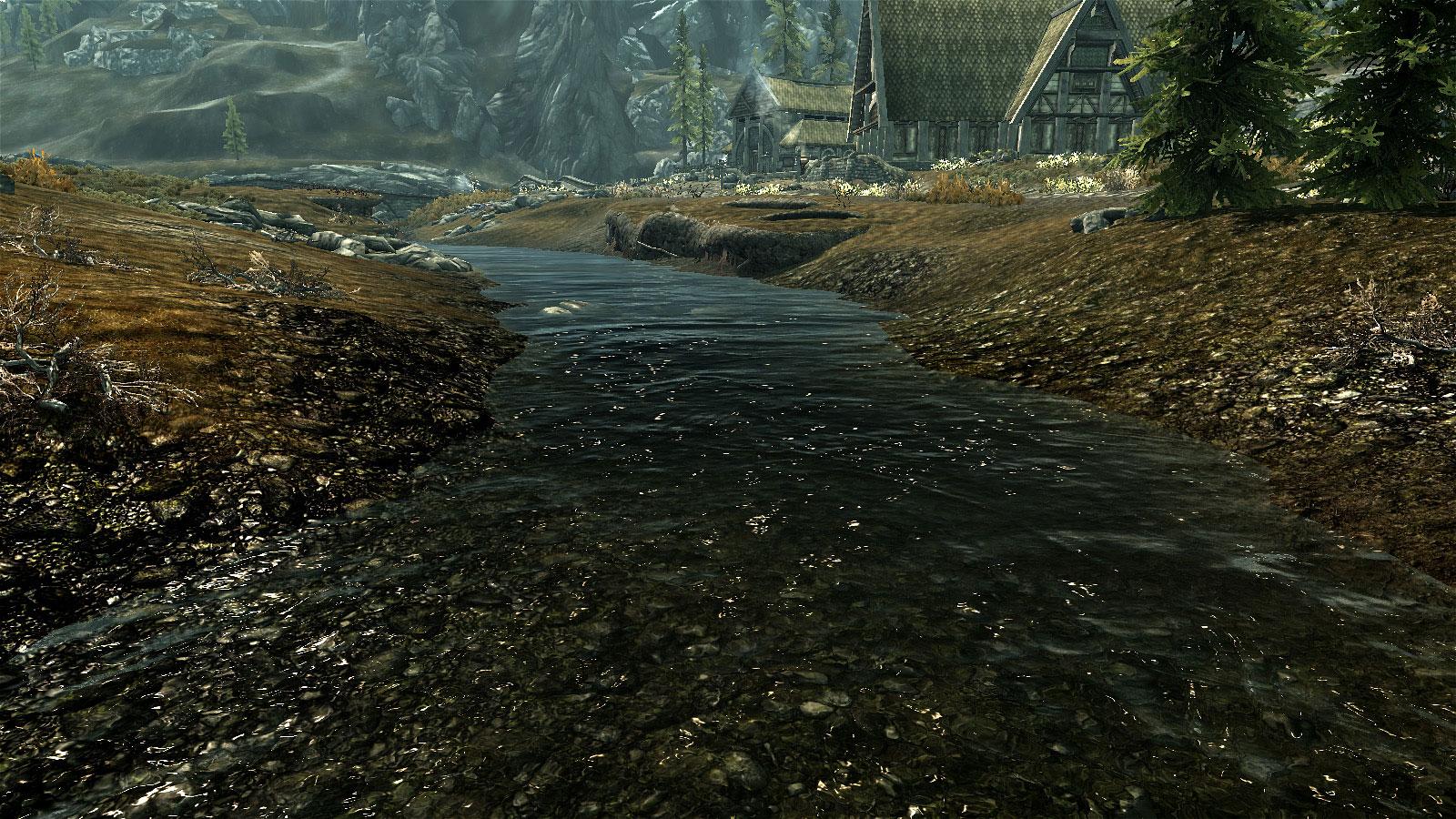 Как сделать воду прозрачную в скайриме