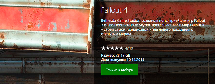 Fallout 4 занимает 28 гигабайт места