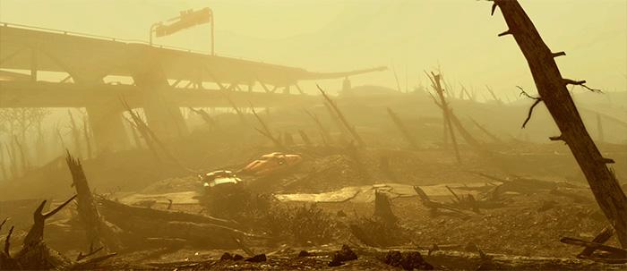 Сравнение размеров мира Fallout 4 и Skyrim