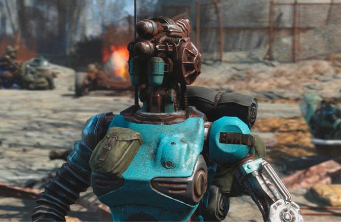 Первый компаньон-робот в Fallout 4: Automatron