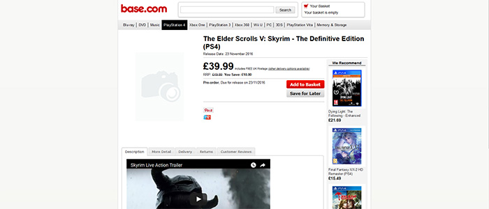 Skyrim: The Definitive Edition выйдет 23 ноября 2016