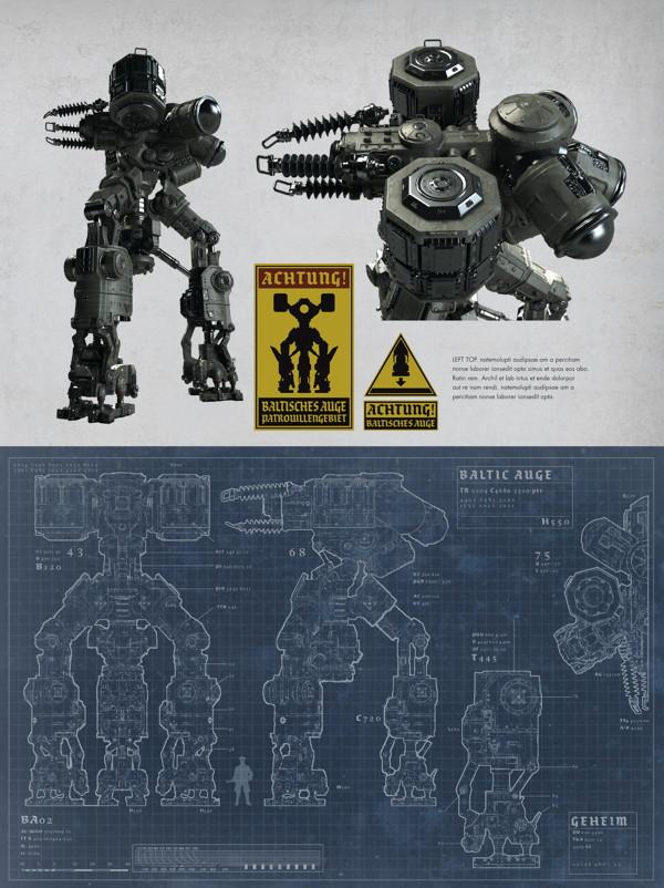 Схема боевого робота — Арты