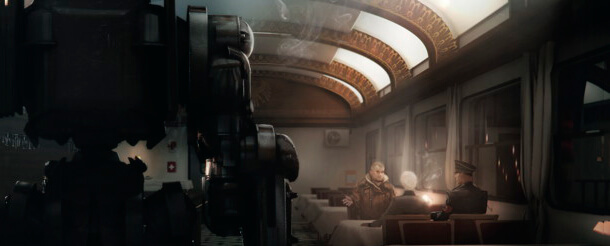 Оригинальный арт Wolfenstein: The New Order в поезде